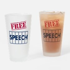 Free Speech Drinking Glass