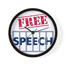 Free Speech Wall Clock