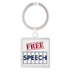 Free Speech Square Keychain