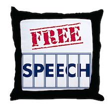 Free Speech Throw Pillow