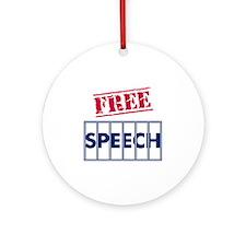 Free Speech Round Ornament