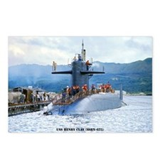 mp uss henry clay mini po Postcards (Package of 8)