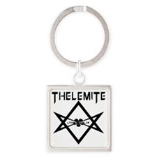 Thelemite - Love Is The Law Occult Square Keychain