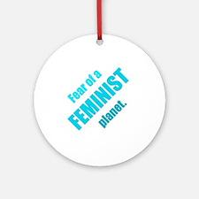 Feminist Planet Round Ornament