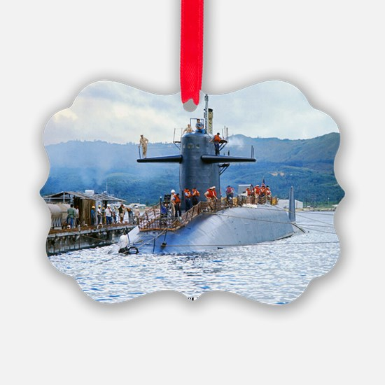 gc uss henry clay greeting card Ornament