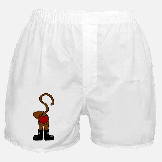 heart monkey Boxer Shorts