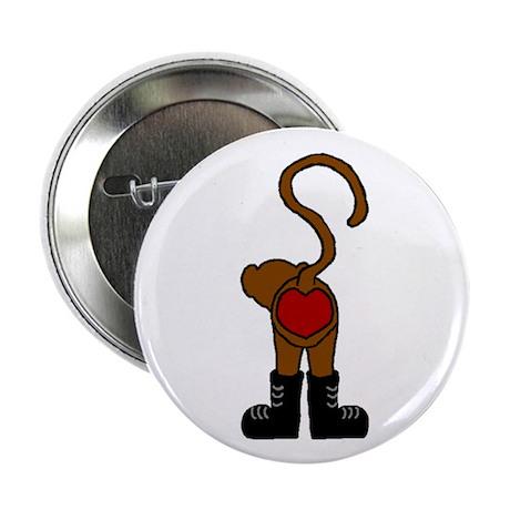 "heart monkey 2.25"" Button (10 pack)"