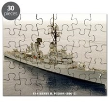gc uss henry b wilson greeting card Puzzle