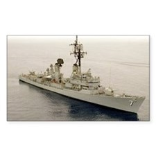 gc uss henry b wilson greeting Decal