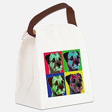 Pop Art Border Terrier Canvas Lunch Bag