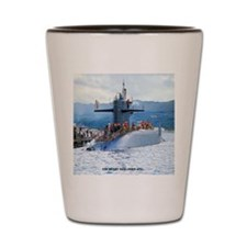nc uss henry clay note card Shot Glass