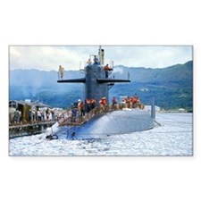 nc uss henry clay note card Decal