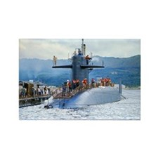 lp uss henry clay large poster Rectangle Magnet
