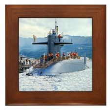 sp uss henry clay small poster Framed Tile