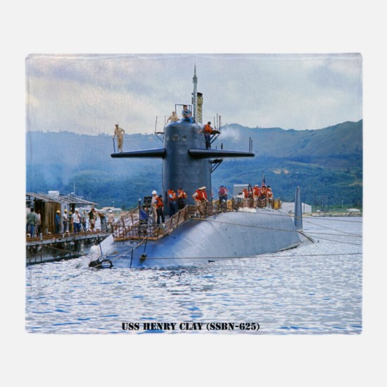 sp uss henry clay small poster Throw Blanket