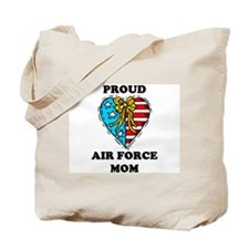 Air Force Mom Heart Tote Bag