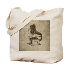 Vintage Phonograph Tote Bag