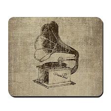 Vintage Phonograph Mousepad