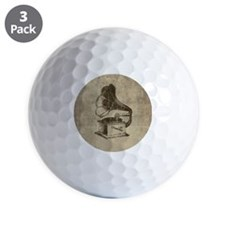 Vintage Phonograph Golf Ball