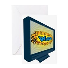 LCD Plasma TV Television Wham Greeting Card