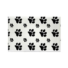 paw prints  for pillow case Rectangle Magnet