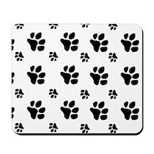 paw prints  for pillow case Mousepad