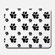 paw prints  for pillow case Mousepad