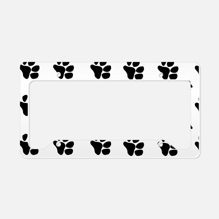 paw prints  for pillow case License Plate Holder