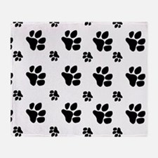 paw prints  for pillow case Throw Blanket