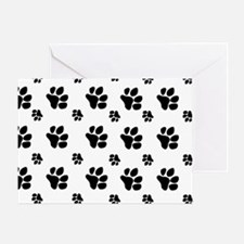 paw prints  for pillow case Greeting Card