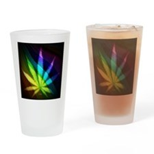 Rainbow Weed Drinking Glass