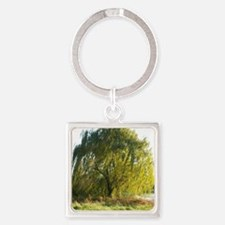 Blowing in the wind Square Keychain