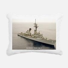mp uss henry b wilson mi Rectangular Canvas Pillow