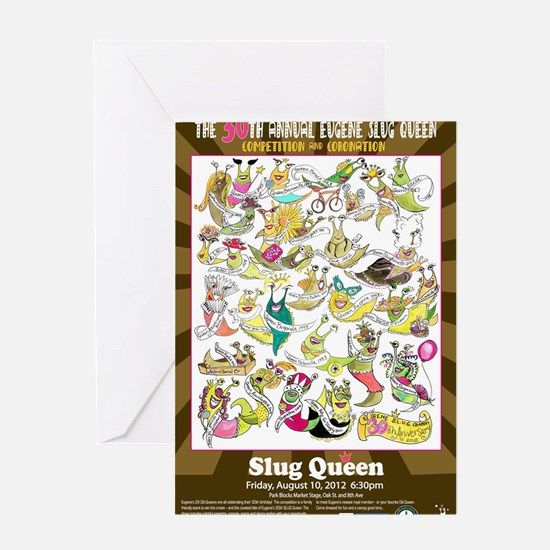 2012 Slug Queen Anniversary Poster Greeting Card