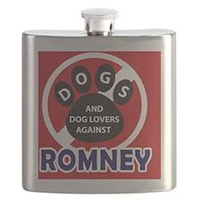 Dogs hate Romney! Flask