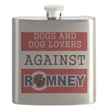 Dog Lovers Unite Against Romney! Flask