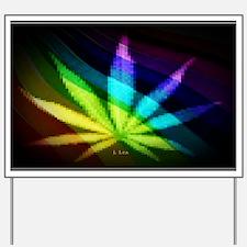 Rainbow Weed Yard Sign