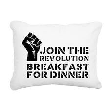 breakfast Rectangular Canvas Pillow