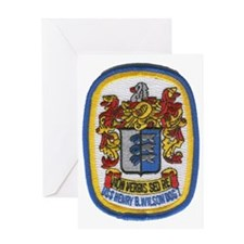 uss henry b wilson patch transparent Greeting Card