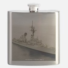 sp uss henry b wilson small poster Flask