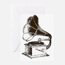 Vintage Phonograph Greeting Card