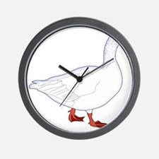 White Goose Wall Clock