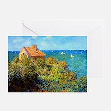 Claude Monet Fisherman Cottage Greeting Card