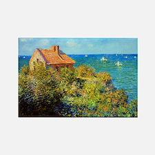 Claude Monet Fisherman Cottage Rectangle Magnet