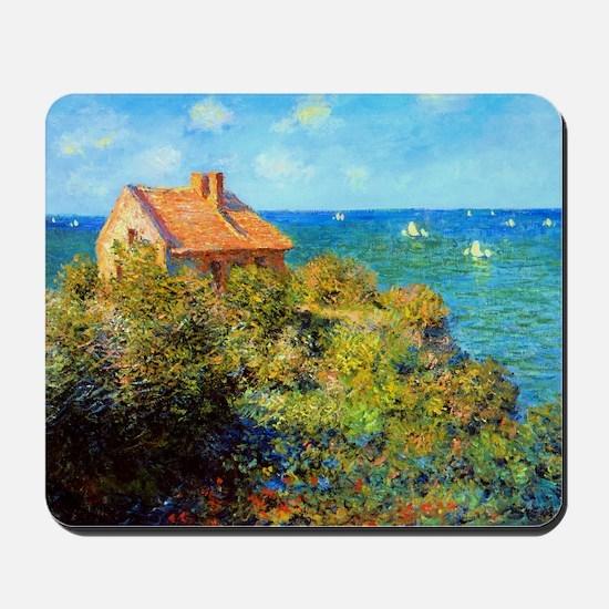 Claude Monet Fisherman Cottage Mousepad