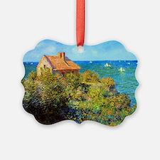 Claude Monet Fisherman Cottage Ornament