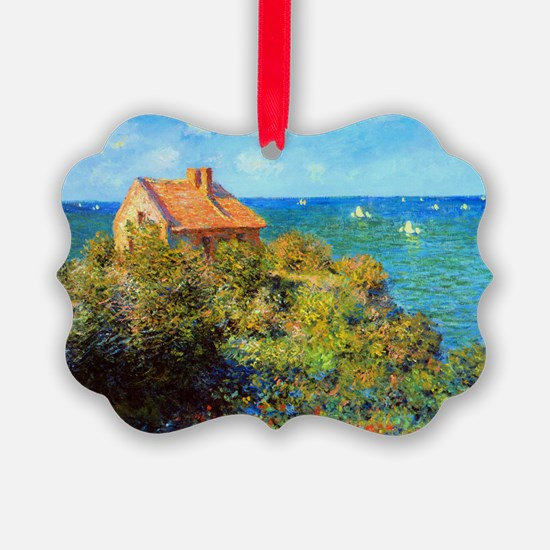 Claude Monet Fisherman Cottage Ornament