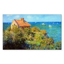 Claude Monet Fisherman Cottage Decal