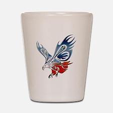 Metallic Grunge Eagle Tattoo Shot Glass