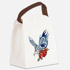 Metallic Grunge Eagle Tattoo Canvas Lunch Bag